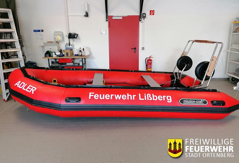 Neues Rettungsboot für die Feuerwehr Lissberg